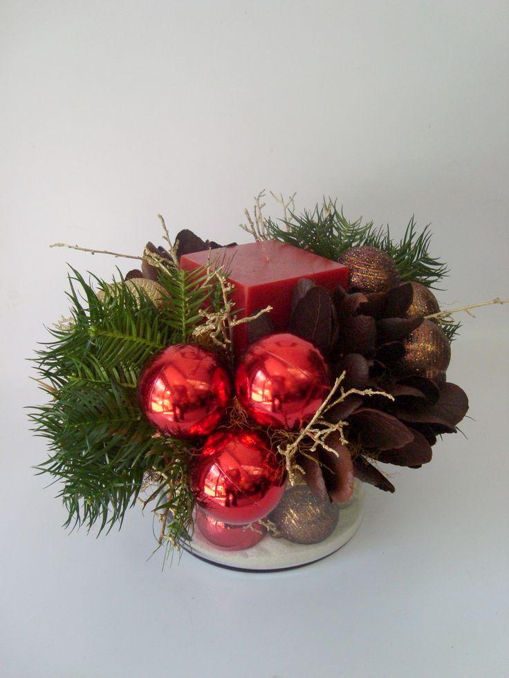 Arreglo Floral vela y cristal - Annafiori