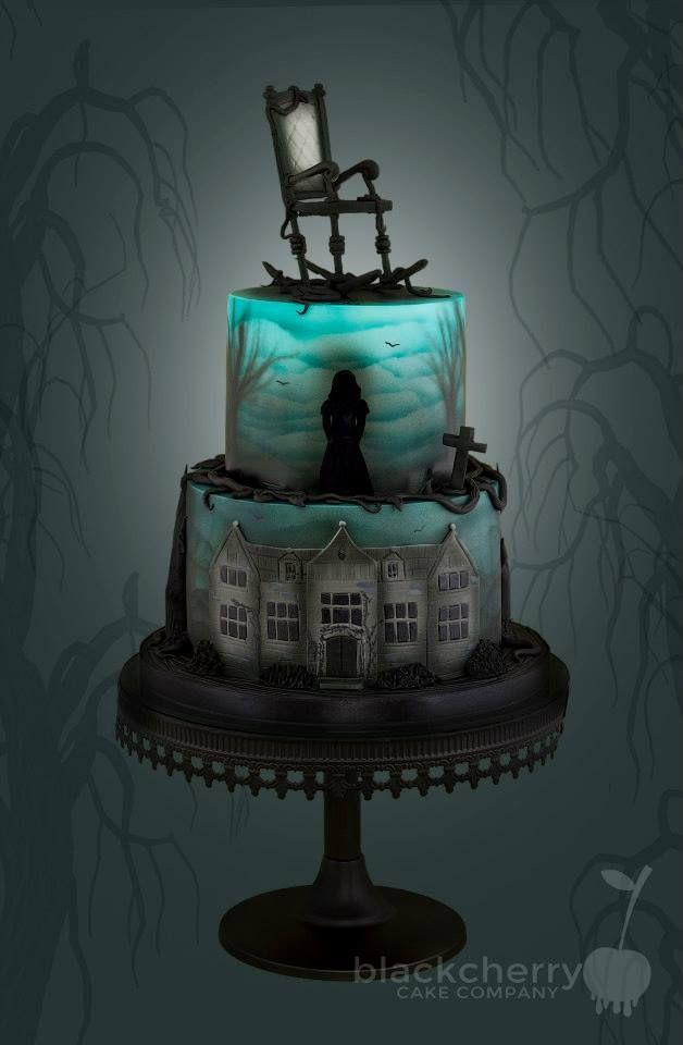 Eerie Halloween Cake That Lights Up Inside. . Ha, Ha, Ha, Ha. . .Fab!~ Little…