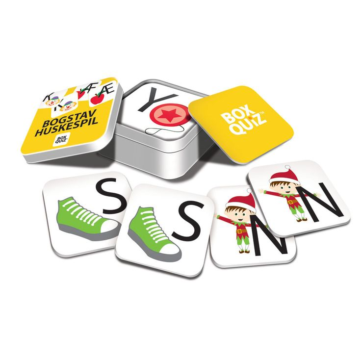 BOX QUIZ - huskespil med bogstaver