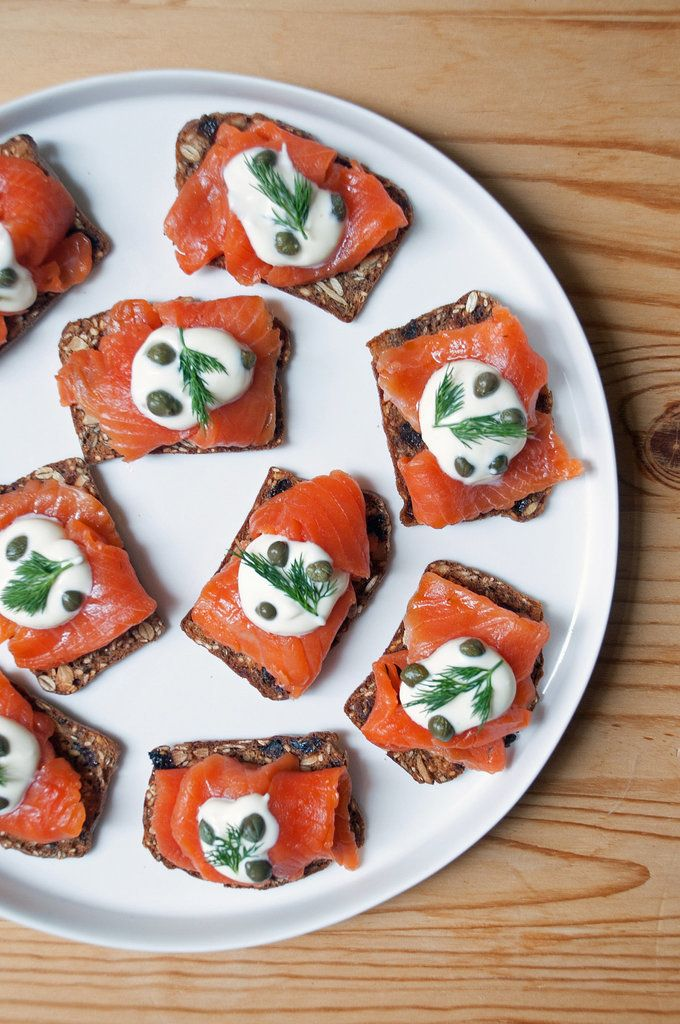 When hosting a New Year's Eve party, getting your appetizer game on lock is second only to stocking up on plenty of sparkling wine (and OK, picking out your party dress). As this recipe collection suggests, we suggest serving a mix of finger foods and easy dippable or spreadable foods like hummus and baked fontina, as both are easy to eat with a cocktail in hand. Try these Gravlax and Crème Fraiche Toasts for a classy cocktail party.