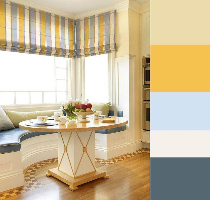 Цветовая гамма дня: ваниль, золотой, голубой, слоновая кость, аспидно-серый