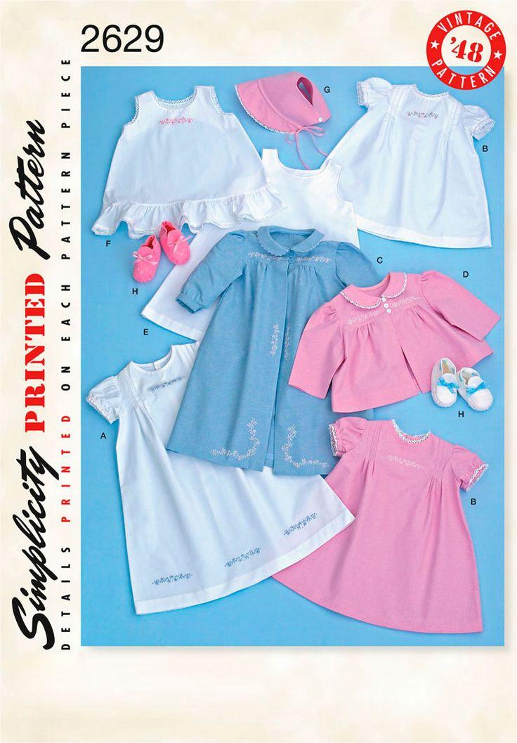 Love these. Simple: Babies, 2629 Babies, Vintage, Baby Girl, Pattern 2629, Simplicity 2629, Simplicity Patterns, Baby Layette, Sewing Patterns
