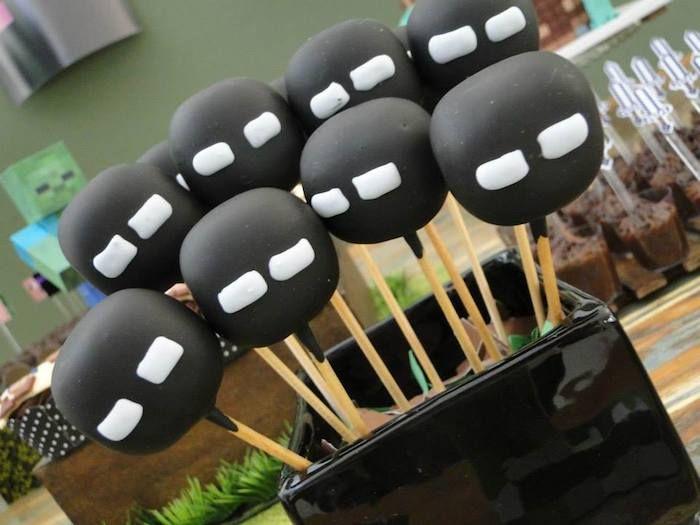 Cakepops decorados do Minecraft