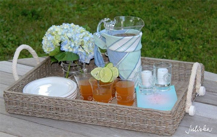 Warm weather calls for relaxed entertaining and simple delicacies such as frosty iced tea, sweetened by the sun, a good book and tea sandwiches served up on our rich & rustic rectangular tray