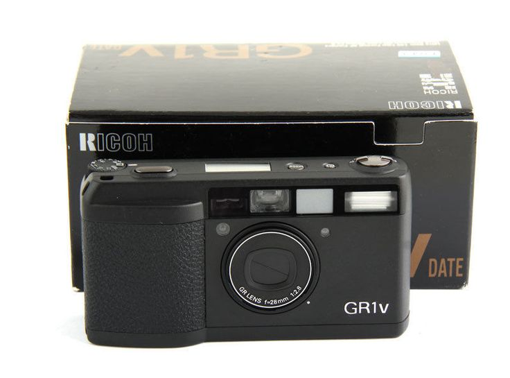 Ricoh GR-1v Point & Shoot Film Camera with 28 mm lens Kit NEW OTHER