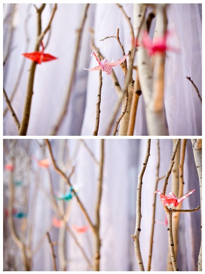 Elena- this one's for you: origami bird idea.