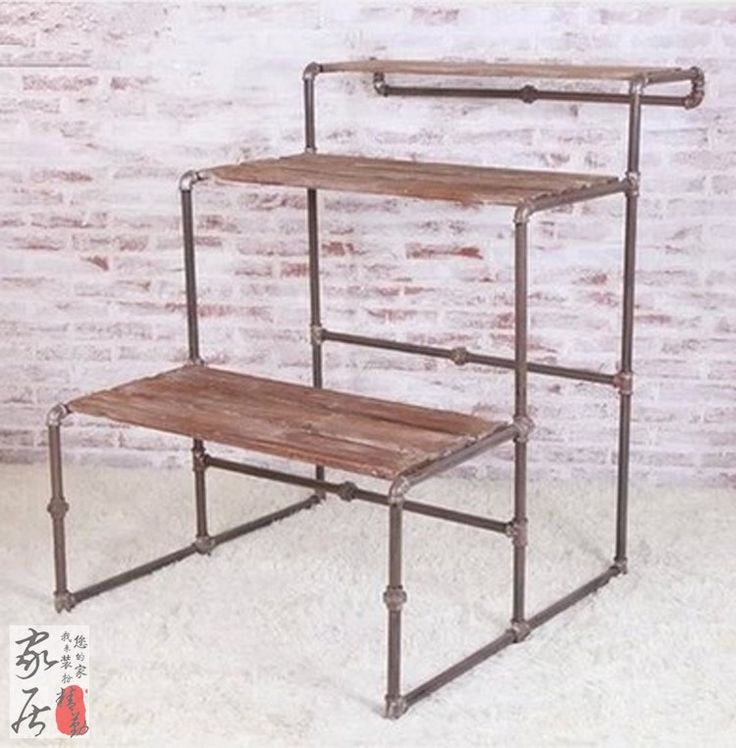 Clothing store shelf display stand pipe hanger bag rack clothes rack in the island shelf floor water table