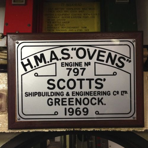 HMAS Ovens - Engine No 797 Scotts' Shipbuilding & Engineering Co, Greenock 1969