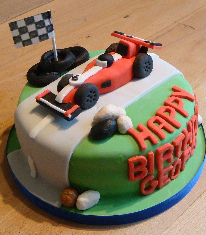 Racing Car Birthday Cake Birthday Cake Ideas Pinterest