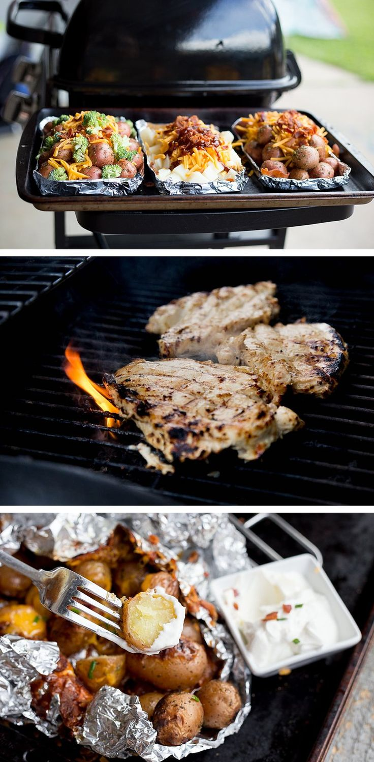 3 Ways to Transform a Potato on the Grill: This is the way you should be eating your potatoes. Perfect side dish with grilled chicken. You have to make these crazy-easy grilled potato bundles this summer. These foil wrapped potato packets are super simple and delicious. Perfect for camping or just a quick family dinner. #ad #CheeseLove *Saving this for later!