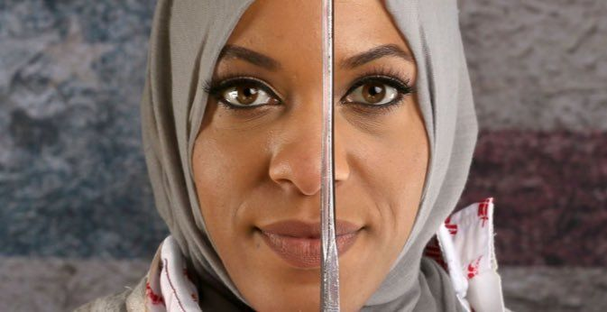 Ibtihaj Muhammad, the fencer who become the first US athlete to compete at the Olympics in a hijab.