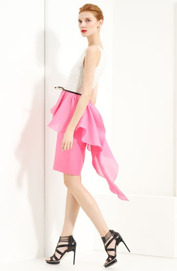Jason Wu Spring 2012 belted peplum dress