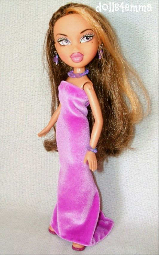 Bratz Doll Clothes Handmade Velvet Gown Jewelry Set Fashion No Doll Dolls4emma Dolls Dolls