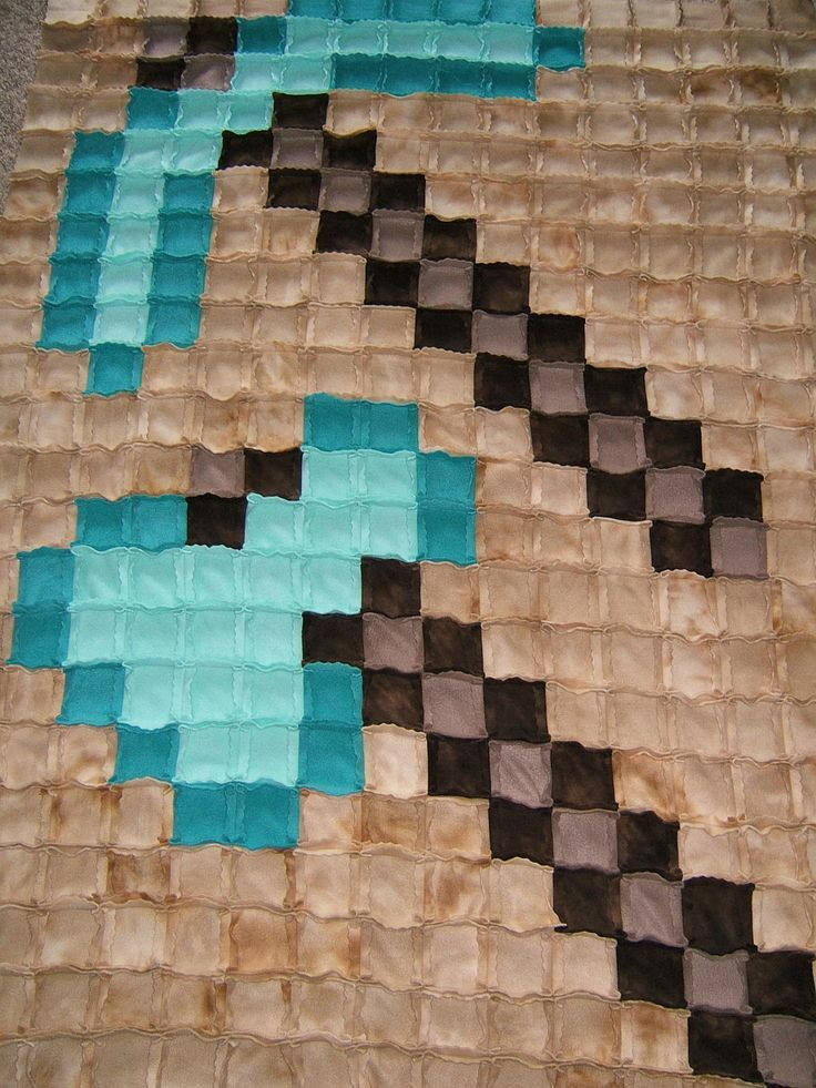 Free Crochet Pattern For Minecraft Afghan : 25+ best ideas about Minecraft blanket on Pinterest ...