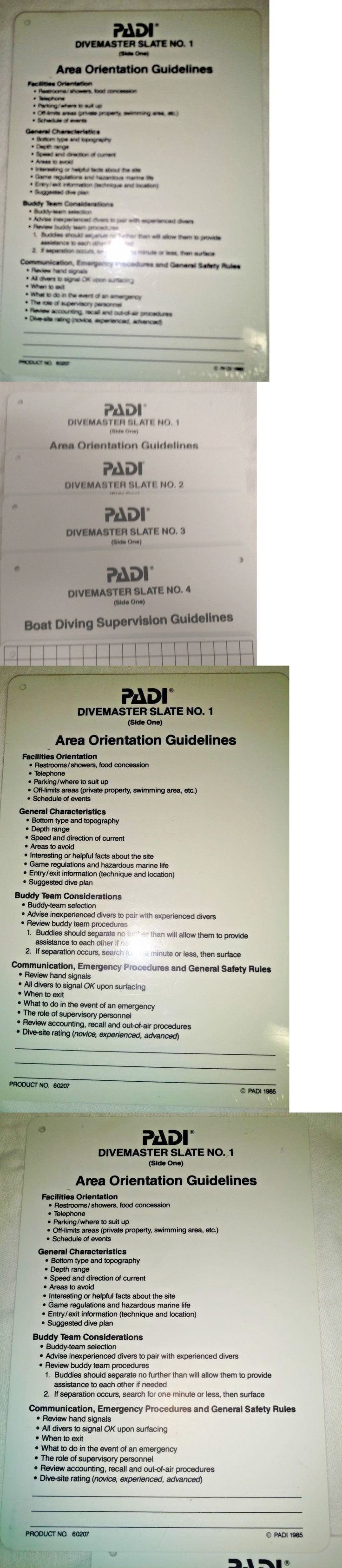 Books and Video 73993: Padi Dive Master Slates Scuba -> BUY IT NOW ONLY: $32.95 on eBay!
