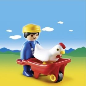 Playmobil 1.2.3 Αγρότης & Κάρο (6793)- 4.99