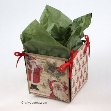 Super easy DIY Small Gift Box is super cute!  Tutorial by Crafty Journal.