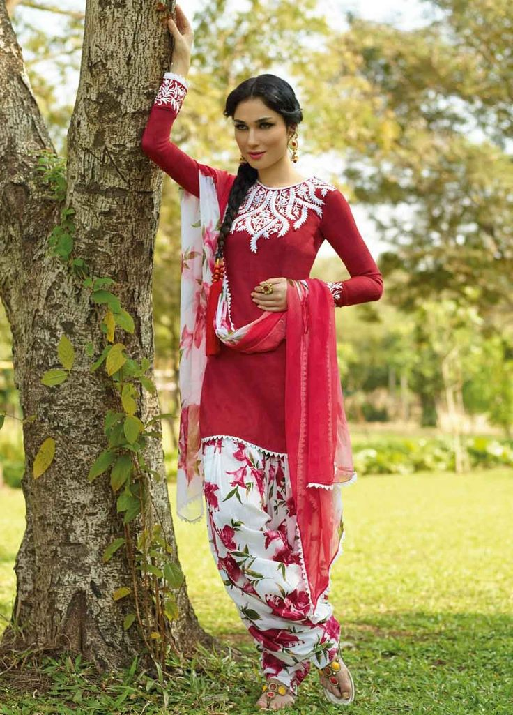 #Shop #Patiala #Salwar #Suits #Online. Fabulous and Beautiful Dyed #Cotton Jacquard Suit with Bamberg Chiffon Dupatta 8287A. Product price #Rs3299, #ReadyToShip, #EID25%Discount