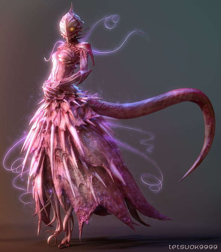 Knights of Sidonia - Tsumugi by tetsuok9999.deviantart.com on @deviantART . The thumbnail doesn't look very much like an eldritch abomination, but look closer. Her 'dress' is made out of bones, skin, and teeth.