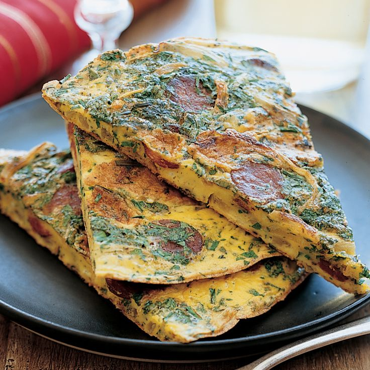 Chilean Chorizo and Herb Tortilla | Food & Wine