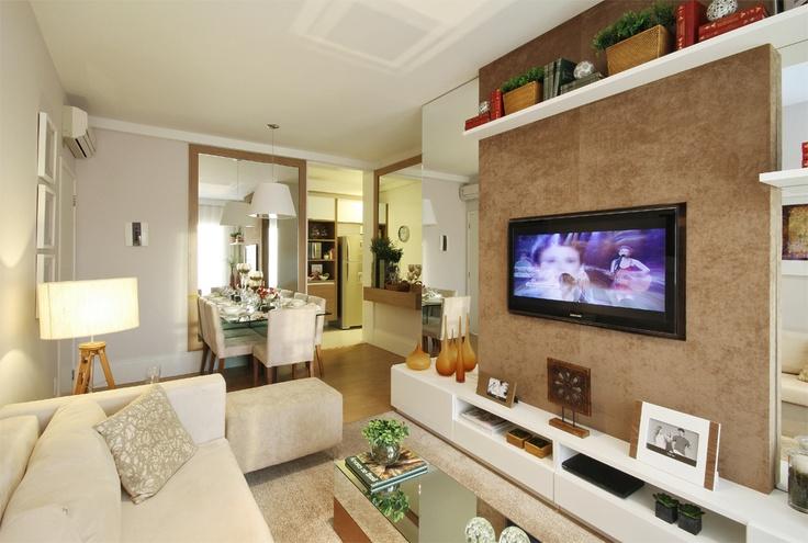 muito utilizado nos apartamentos os pain is com televis o On apartamentos pequenos bien decorados
