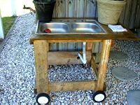 I plan on doing this with an old stainless sink.  It will be really helpful for washing vegetables from the garden and will keep me from dragging the dirt in the house.