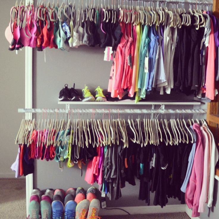 My workout closet! Love Nike, Lululemon, reebok ... Pretty much any workout clothes and sports bra!  Follow me on Instagram Thao.or.die