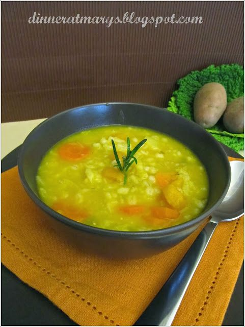 barley, pumpkin and cabbage soup
