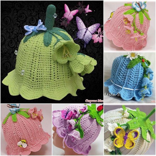 How to DIY Pretty Crochet Girls Bluebell Beanie Hat | www.FabArtDIY.com LIKE Us on Facebook ==> https://www.facebook.com/FabArtDIY