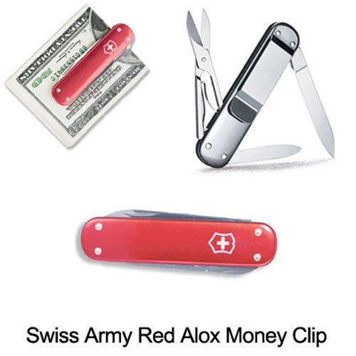 Victorinox Swiss Army Knife 53739 Money Clip Red Alox