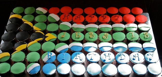 South African flag cupcakes