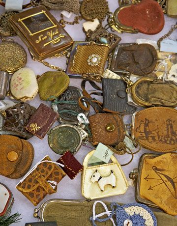 Antique doll purses (Photo by Ryan Benyi for Country Living)