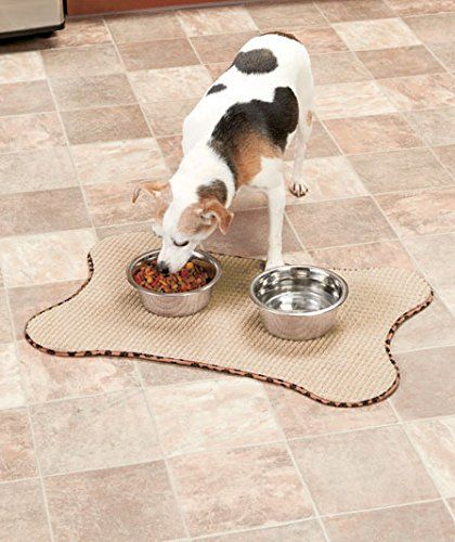 bone shaped pet bowl quickdry mats set of 2 see this great