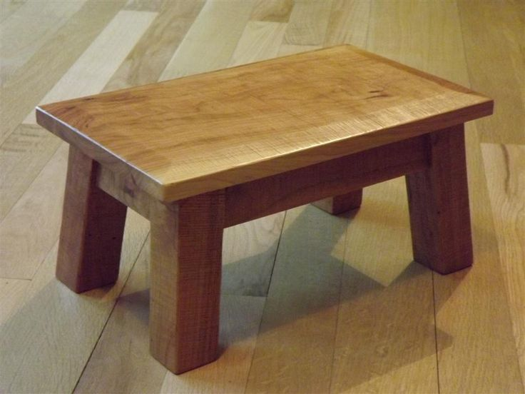 Rustic Reclaimed Wood Stool Solid Cherry Wood Beveled Edge Rough Sawn Step Stool Foot Stool & 8 best step stools images on Pinterest | Step stools Wooden ... islam-shia.org