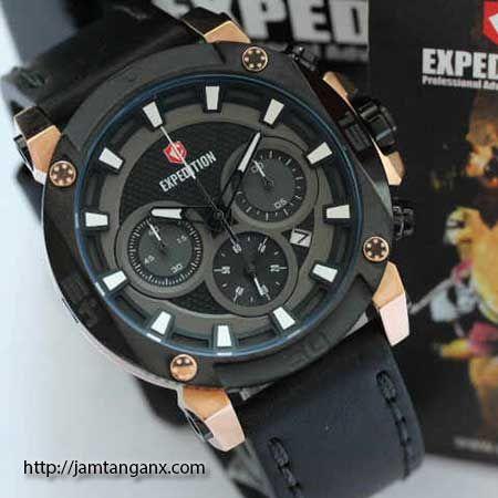 jam tangan expedition E6606 warna black gold