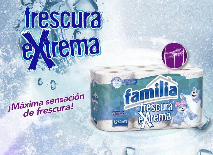 El nuevo Papel Higiénico Familia® Frescura Extrema, tiene micro cristales de frescura que te permitirán disfrutar de una sensación de limpieza y frescura cada vez que entres al baño.