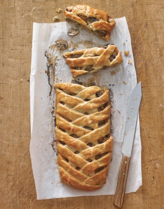 Fontina, Leek and Mushroom Braid. A savory pastry to serve a crowd!