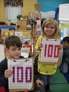 100th day of school-Search the classroom for the numbers to color in