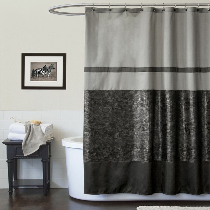 lush decor croc black shower curtain bed bath shower curtains accessories