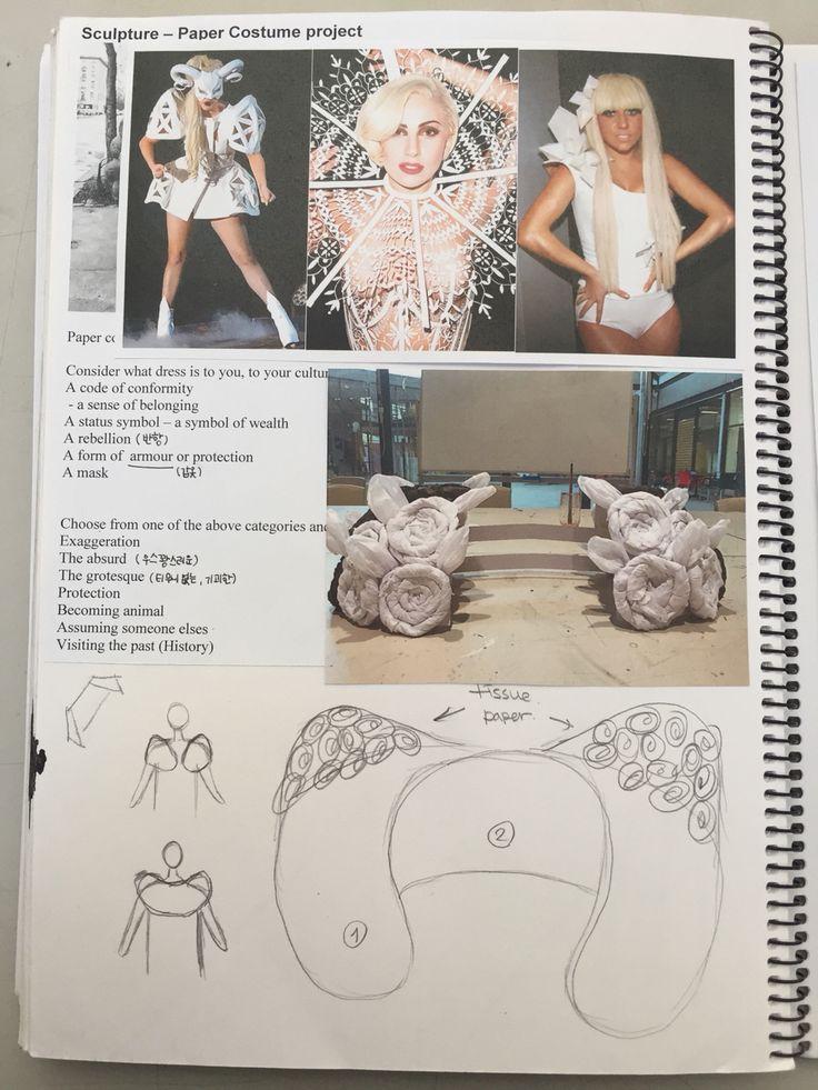 Paper costume- visual diary