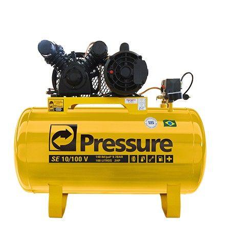 COMPRESSOR DE AR TRIFÁSICO 10 PÉS 100L 220/380V SE10/100 V-2HP PRESSURE