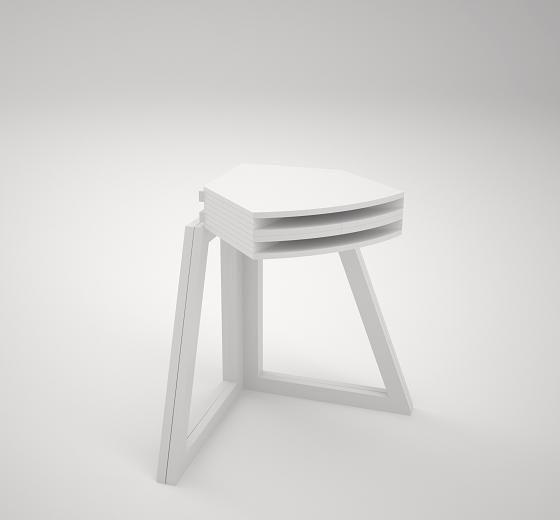 Le manque de place dans nos habitations semble donner des idées aux designers en ce moment, après la table basse qui grandit, et encore le tapis qui peut servir de table, Sanna Lindström and Sigrid...