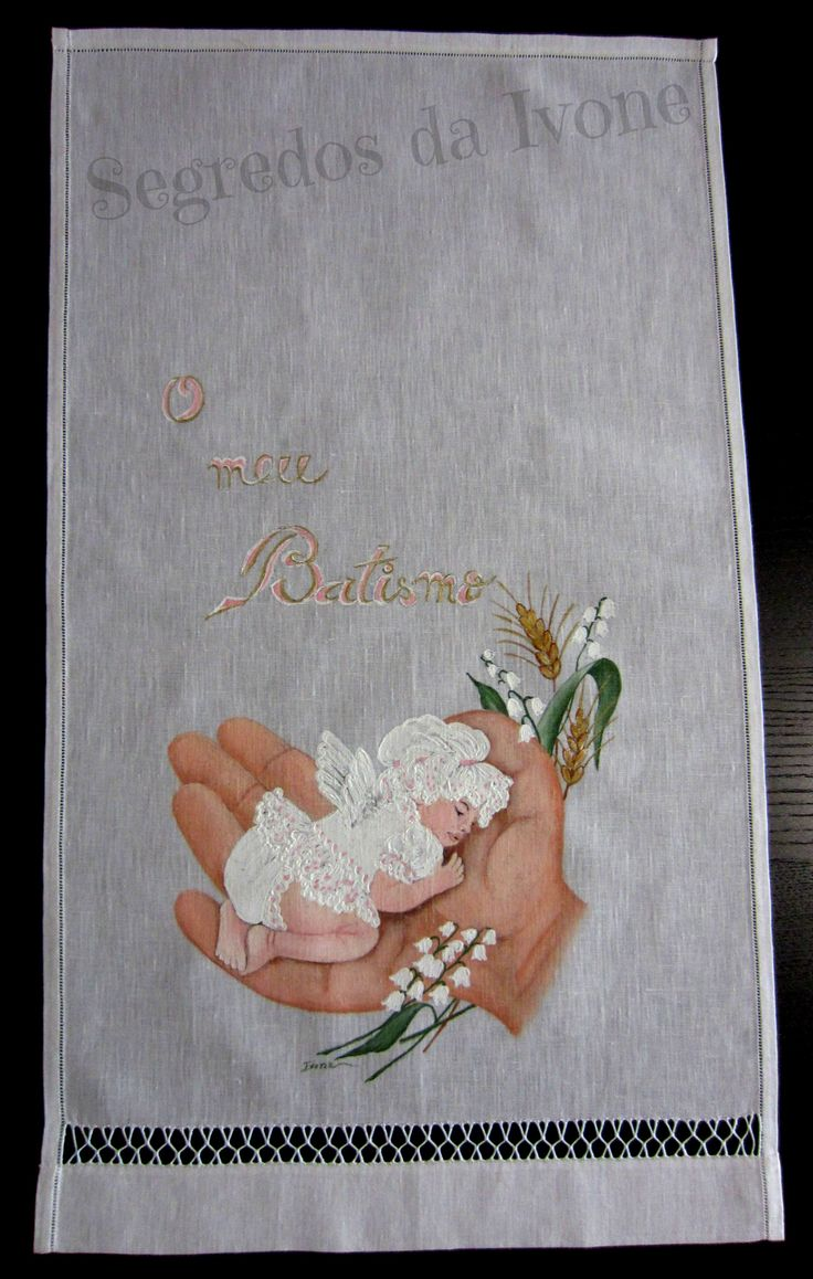 AB6- Pintura em toalha de batismo