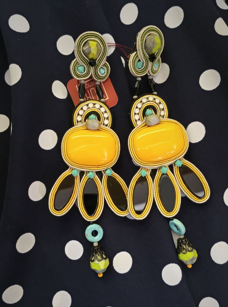 My Caprice earrings arrived. I must say wow.... #doricsengeri #earrings #Accessories #statement #Colorful #Largeearrings #Yellow #Caprice #summer #style
