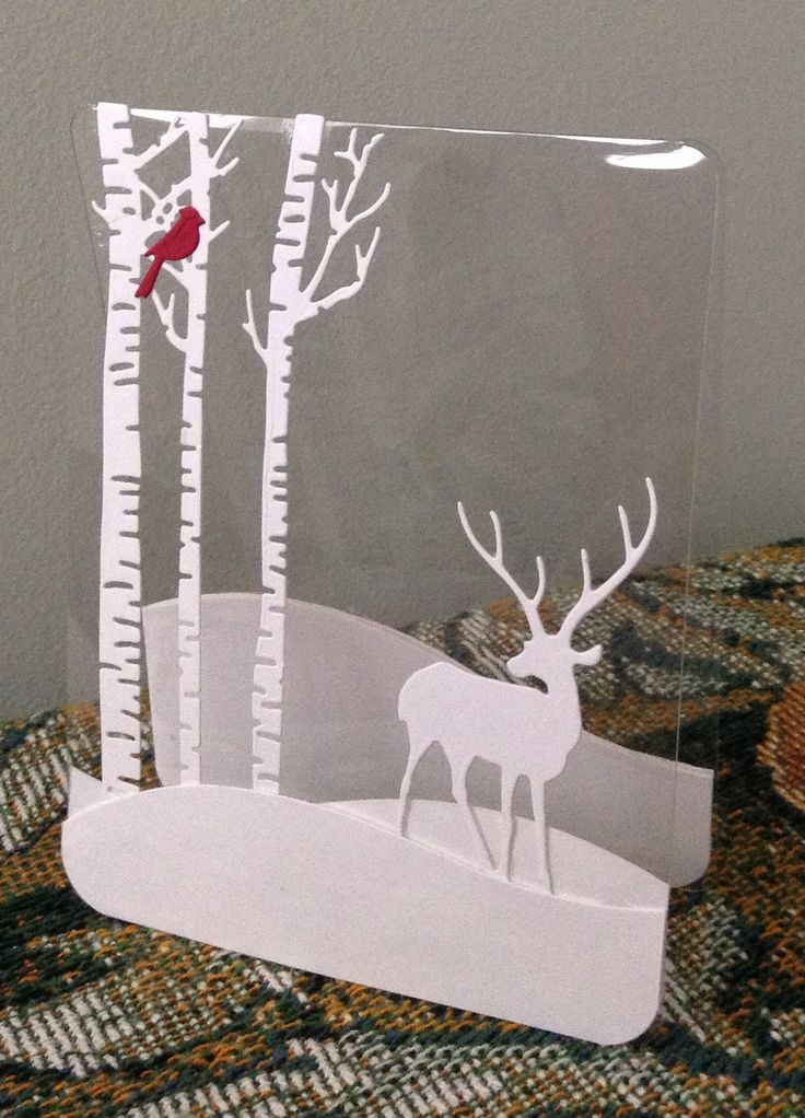 Christmas Acetate Card  (How gorgeous!!  I don't think I could make this myself but I'm pinning it out of L