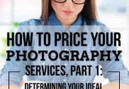 Welcome to the first post in a 4-part series on how to price your photography services! ***** The beauty of just starting out with a new venture