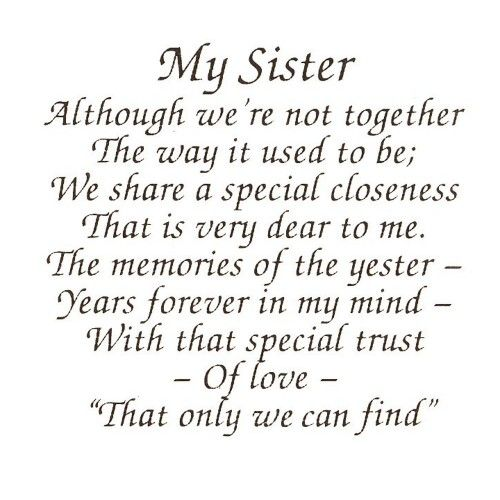 Best 25+ Sister Poems Ideas On Pinterest