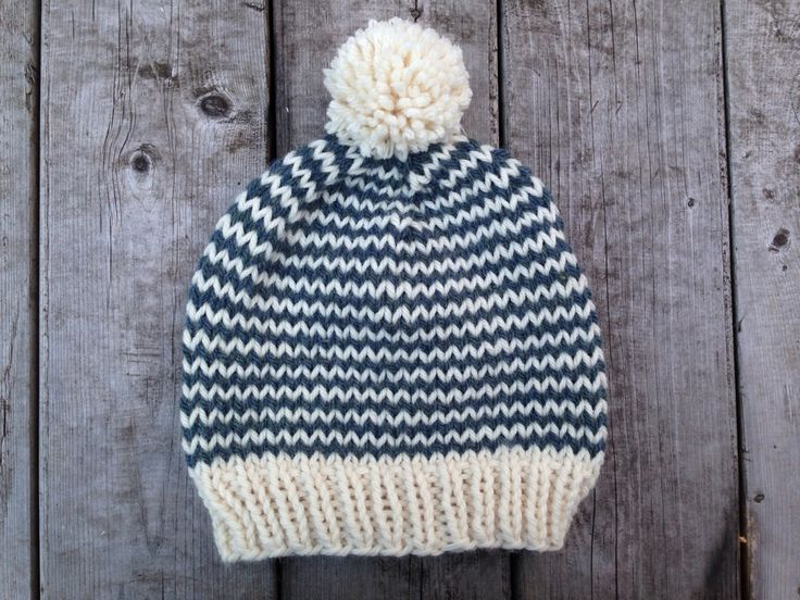 Cute hat and instructions on how to make stripes not zig zag at color change point