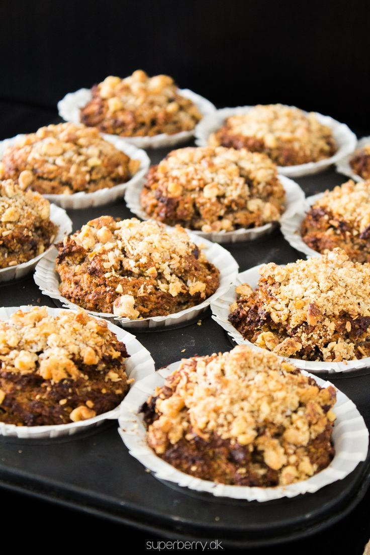 Banana Cinnamon Muffins. Delicious paleo banana muffins with an addition of cinnamon. Nuts and coconut flakes creates rich delicious taste. No grains and no sugar at all. The only sweeteners here are bananas and dates, as natural as possible :)
