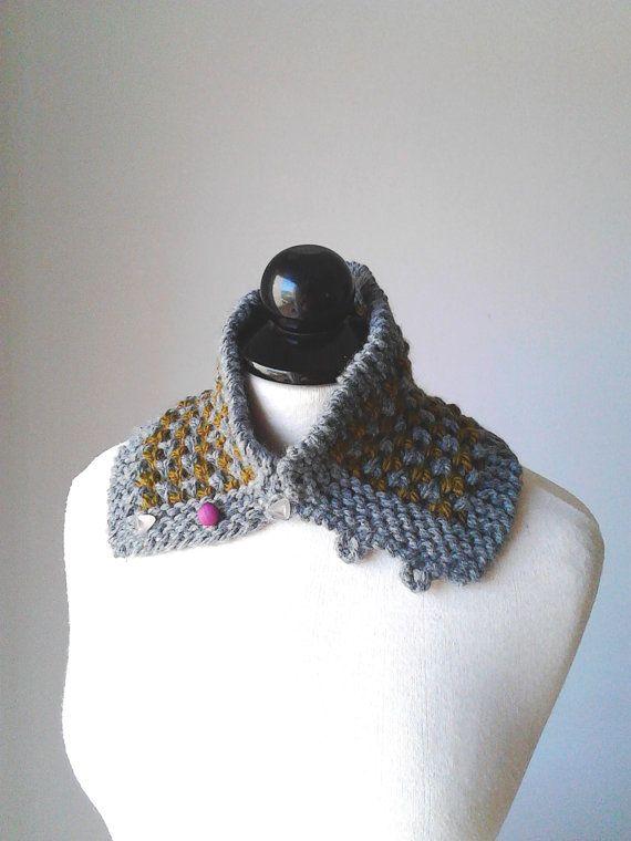 Col cheminée tour de cou tricot écharpe crochet ventouse